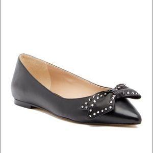 Sam Edelman Raisa Studded Bow Pointy Leather Flats